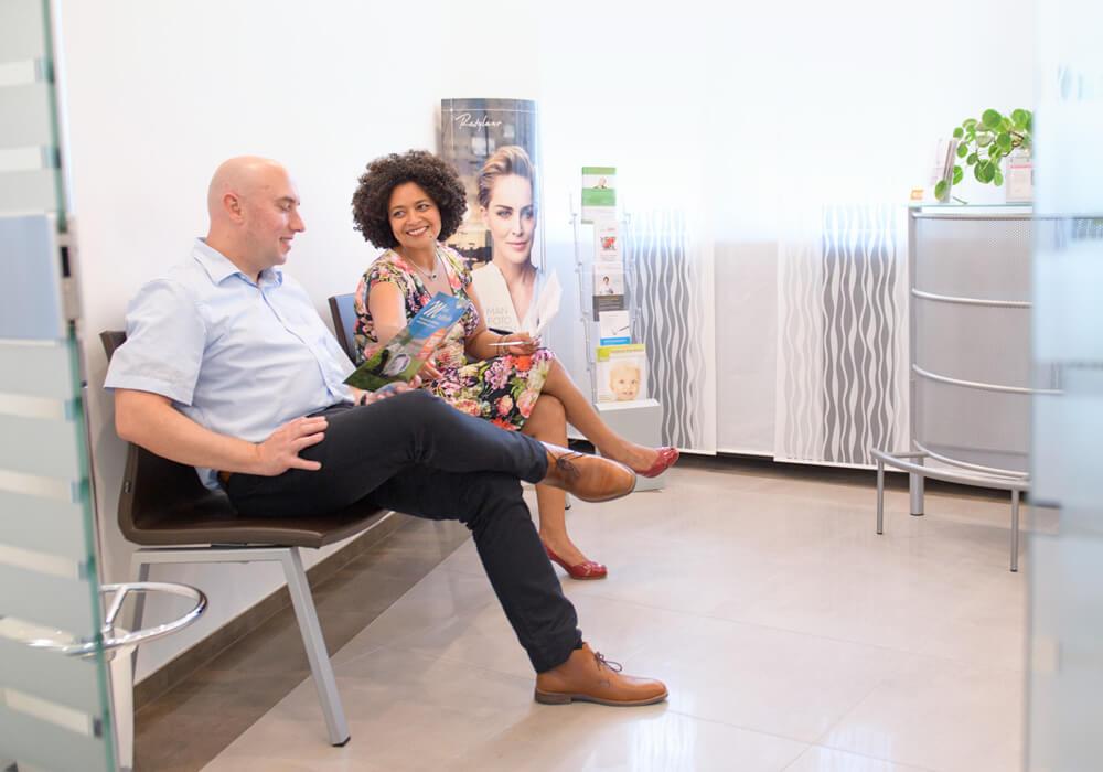 Wartezimmer Zahnarztpraxis Klauser von Frau Dr. Tatiana Klauser